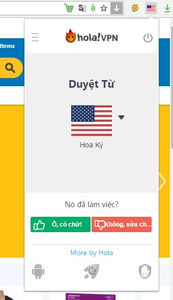 vượt qua các website chặn ip Việt Nam bằng cách sử dụng Hola