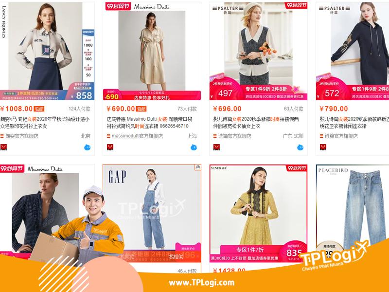link xưởng quần áo nữ trên taobao