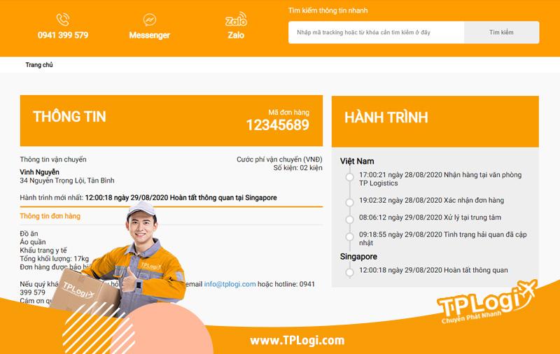 kiểm tra tracking tplogi
